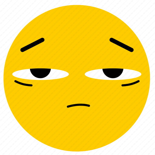 doubt, emojitired02, skeptical, tired icon