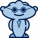 clever, glasses, humanoid, man, people, tie, worker icon
