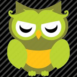 animal, bird, cute owl, fowl, funny owl, owl icon