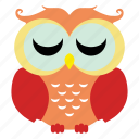 animal, bird, cute owl, fowl, funny owl, owl icon