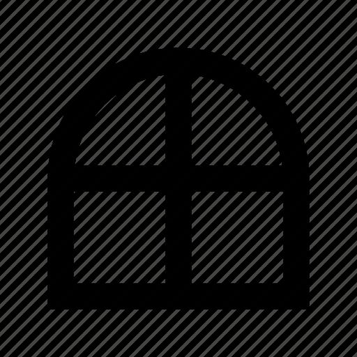 apartment window, furniture, home window, window casement, window frame icon