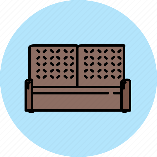 couch, fabric, leather, livingroom, seat icon