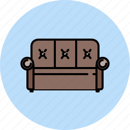 couch, fabric, furniture, leather, livingroom, seat icon