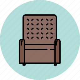 armchair, chair, fabric, furniture, leather, livingroom icon