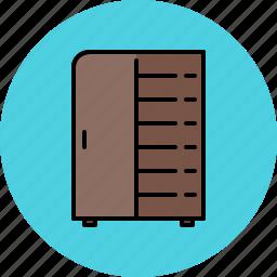 closet, door, furniture, shelves, wooden icon