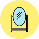 bedroom, frame, furniture, glass, mirror, wooden icon