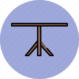 dining, furniture, leg, single, table, wooden icon