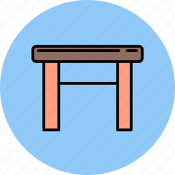 furniture, seat, stool, wooden icon