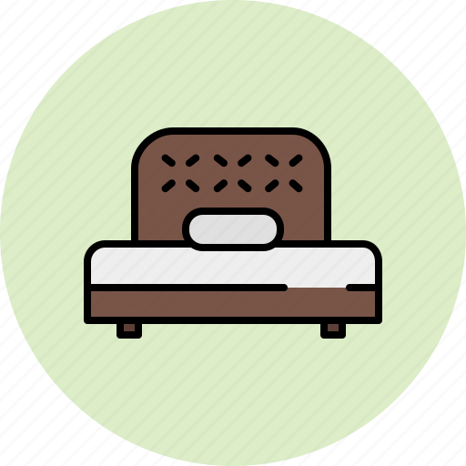 bed, bedroom, fabric, furniture, twin, wooden icon