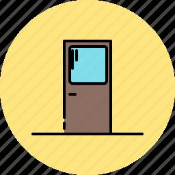 door, furniture, glass, window, wooden icon