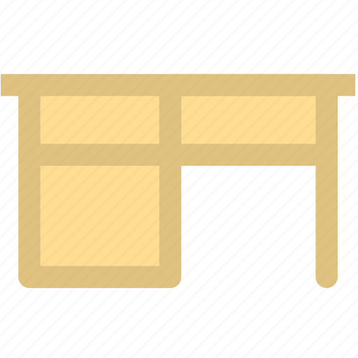 desk, furniture, office, table, work icon