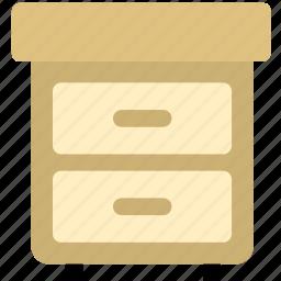 almirah, cabinet, folder, furniture, office icon