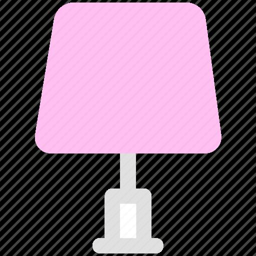 bedside lamp, furniture, lamp, light icon