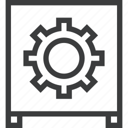 furniture, secure, storage, store, table, vault icon