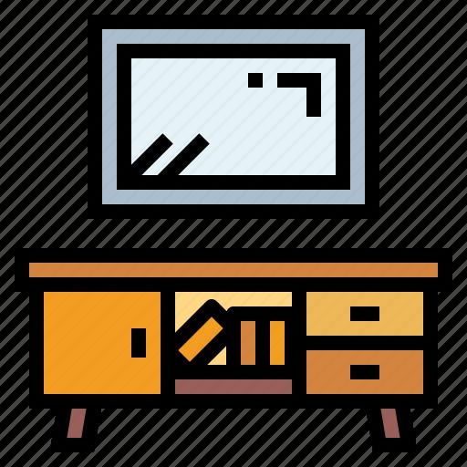 shelf, television, tv icon