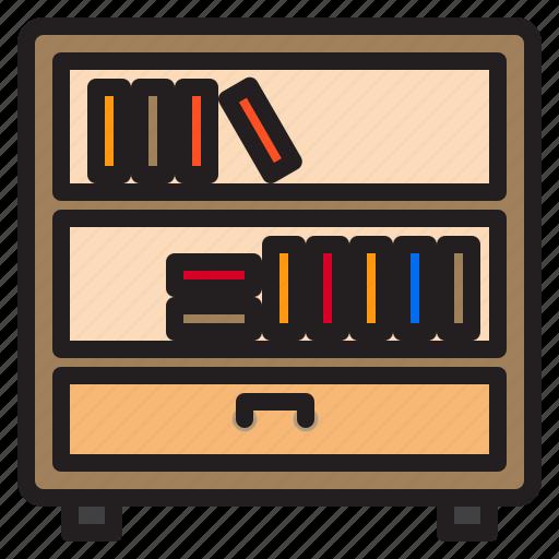 book, furniture, household, livingroom, shelf icon