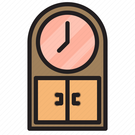 clock, furniture, household, livingroom icon