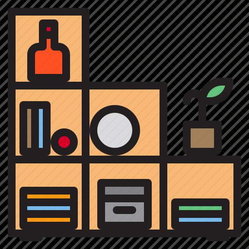 furniture, household, livingroom, shelf icon