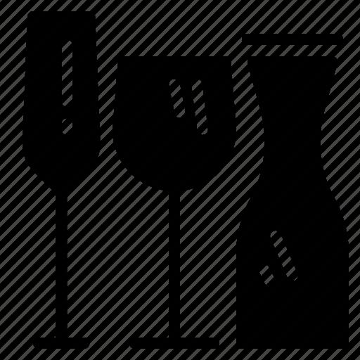 bottle, drink, drinks, glass, wine icon