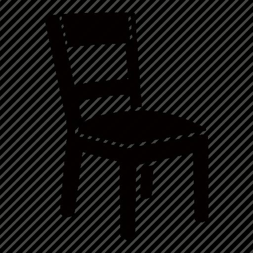 basic, chair, furniture, kids, school, seat, wooden icon