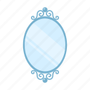 furniture, interior, mirror, wall icon