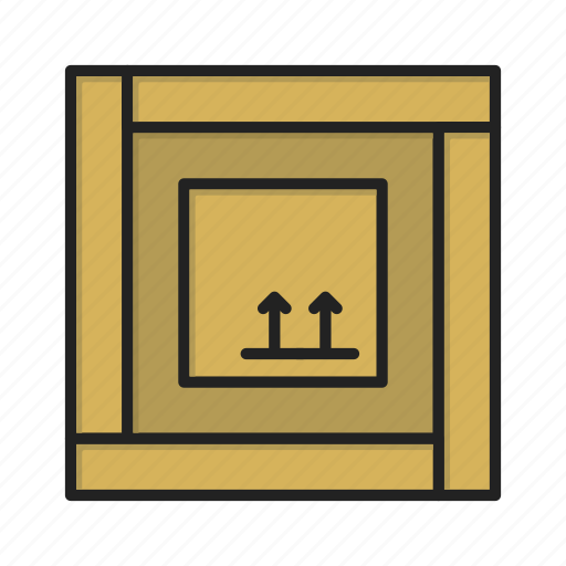 box, crate, delivery, package icon