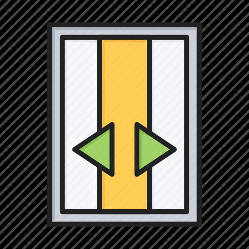 door, elevator, lift, open icon