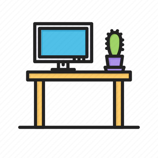 office, table, working, workplace icon