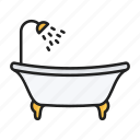bath, bathroom, bathtub, shower icon