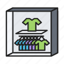 cloth, rack, sell, shop, tshot icon