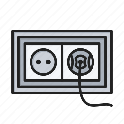 electric, electricity, power, socket icon