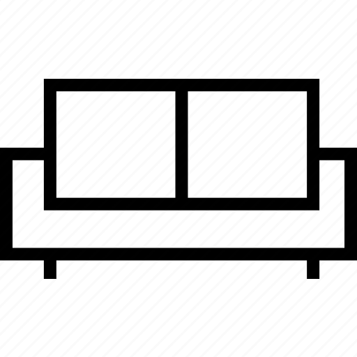 couch, fittings, furniture, house, sofa icon