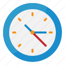 clock, furnitures, time, wall, watch icon