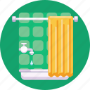 tub, washroom, bathtub, bathroom, shower icon