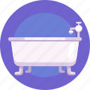 tub, sink, bathtub, bathroom