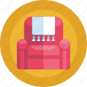 chair, furniture, sofa, seat, households icon