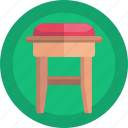 chair, furniture, household, stool icon