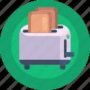 bread toaster, toaster, bread, breakfast, toast icon