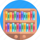 book shelves, furniture, books, book shelf icon
