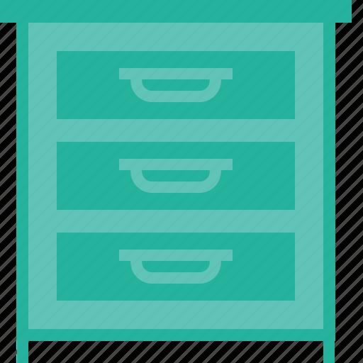 belongings, cloth, drawer, furnishing, furniture, household icon