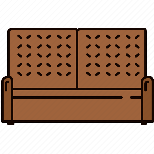couch, fabric, furniture, leather, living room, seat icon