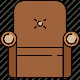 armchair, fabric, furniture, leather, livingroom icon