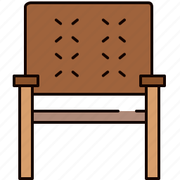 chair, furniture, seat, wooden icon