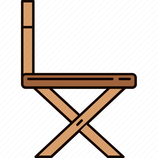 chair, furniture, side, wooden icon