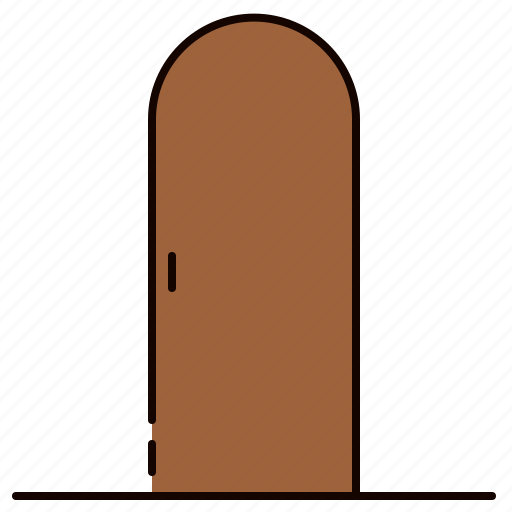 closed, door, furniture, wooden icon