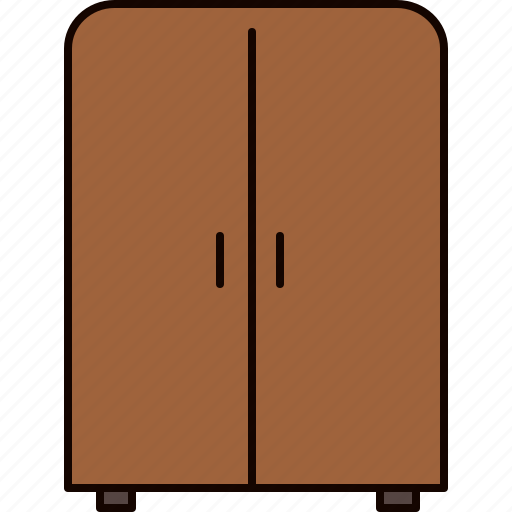 bedroom, closet, clothing, furniture, wooden icon