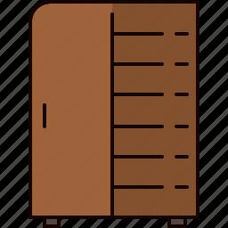 bedroom, closet, clothing, door, furniture, wooden icon