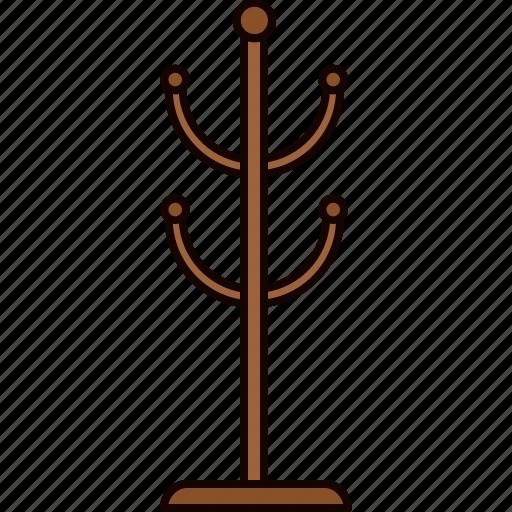 coat, furniture, hallway, hanger, wooden icon