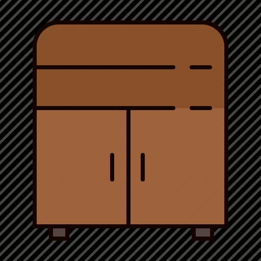 cupboard, doors, furniture, shelves, wooden icon