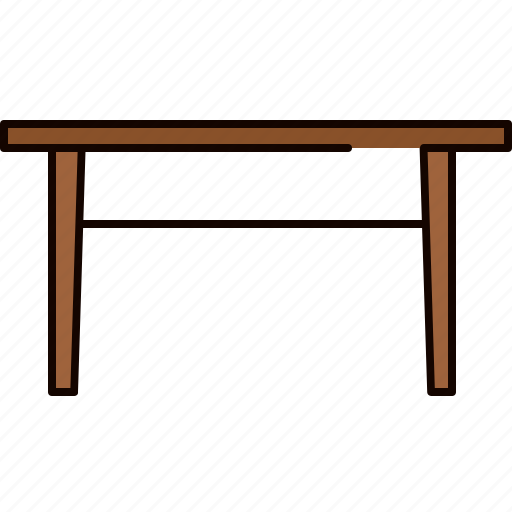 diningroom, dinning, furniture, table, wooden icon